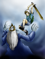 Finn versus Ice King by TheSuperJman