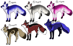 Fox Adoptables -OPEN by Kuurasusi