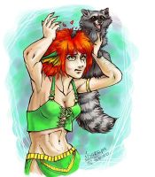 Lady with a raccoon by Shakara-the-Furious