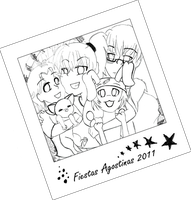 Feria - Collab Lineart by Moonfire95