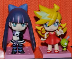 Panty and Stocking nendoroid by mila-tiemy
