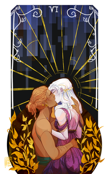 RT Tarot - The Lovers by PANS0L0