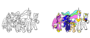 The Royals and the Alicorn by ttrbpeace