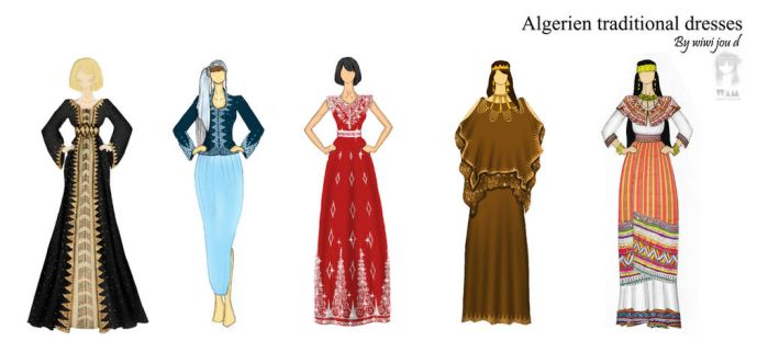 Algerian traditional dresses by wimmaWIWI
