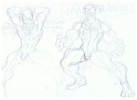 BLACK SPIDEY Transformation to VENOM 2 by LorGistamanRakk