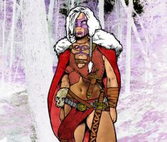 Valkyrie in the Blood Forest by DarkJimbo