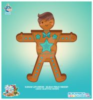 Kawaii Gingerbread Cookie Boy by KawaiiUniverseStudio