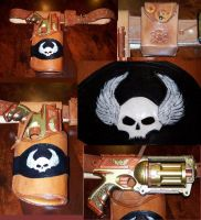 Airship Pirate Gun belt and Gun by SaratoninStudios
