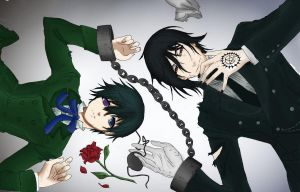 Ciel and Sebastian - Black Butler by mmeades01