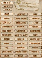 33 Grunge Style Buttons by RapidYak