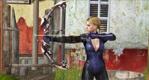Jill Valentine-Compound Bow by blw7920