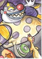 CLOWN WITH TEARAWAY FACE by meteorville