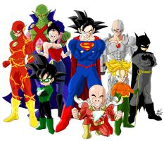Crossover Dragon Ball Z - Justice League by DrMax82