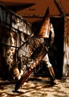 Pyramid Head and nurse by Lucius-Ferguson
