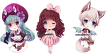 Chibi commissions 8 by LaDollBlanche