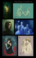 Harry Potter Sketches 1 by pseudolirium