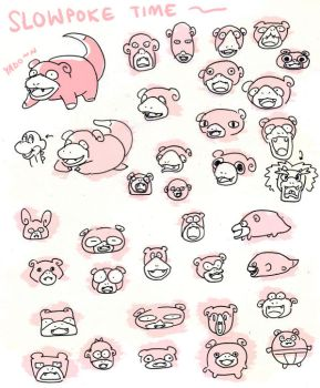 Slowpoke Time by PersonaSama