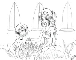 Uncolored- KH: Bed of Flowers by silent-requiem