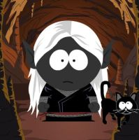 Drizzt- South Park Style by redflowerblooming