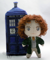 The Eighth Doctor 3D Cross Stitch Doll by rhaben