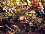 Mario in the woods  by warrior-evans