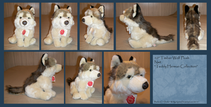 .: Timber Wolf plush :. by BeachBumDunkin