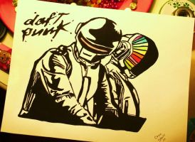 daft punk by TechnoChee