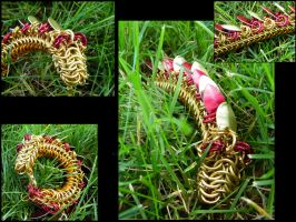 Golden Dragon Bracelet by ChainedBeauty