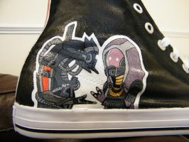 Legion and Tali (Custom Mass Effect shoes!) by minnie1000
