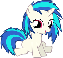 Filly Vinyl Scratch vector by AnEvilZebra