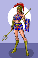 Brittania Union Jack Costume by johnnyharadrim