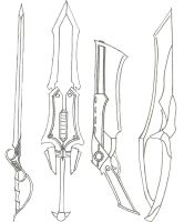 Sword Collection 2 - Lineart by Amakoro