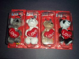 Pez dispensers: fuzzy valentines day ones by Scarletmarie16