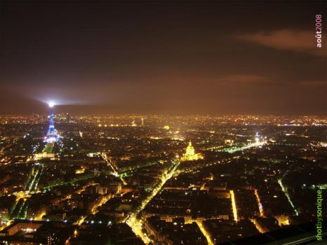 Blue Eiffel Tower-Montparnasse by sonique6784