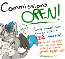 Open For Commissions by HeavyGoatMetal