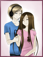 PewDie and Cutie by StephanoTheStatue