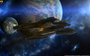 Penumbra Apex - Prothean Starship by Euderion