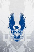 UNSC Blue iPhone 4/4S Wallpaper by EchoLeader