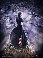 Played violin in the silence by Korolevatumana