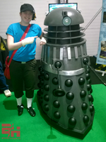 Just chilling with Dalek by Courtneymc07