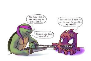 Tmnt Crack Pairing Donnie Sh'rell by Dragona15