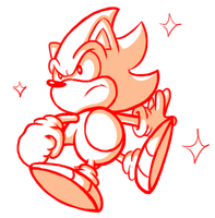 Classic Super Sonic Sketch by JamesmanTheRegenold