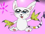 Gatomon Cat of Light by SkunkyRainbow270