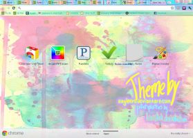 Google Chrome Paint Splatter Theme by kayleero