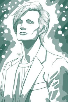 Matt Smith Doctor Who by Sean-Loco-ODonnell