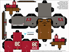 Dashon Goldson Buccaneers Cubee by etchings13