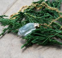 Healing Crystal Pendant - Gold by kittykat01