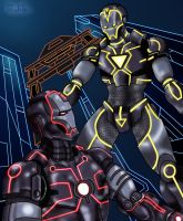 Ironman vs Ironman DIO TRON by rubtox
