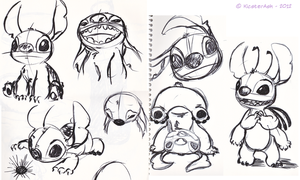 Stitch sketches by KicsterAsh