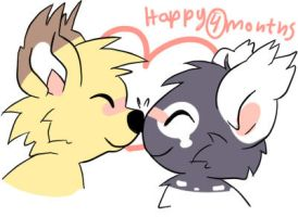 Happy 4 months darling by Pand-ASS